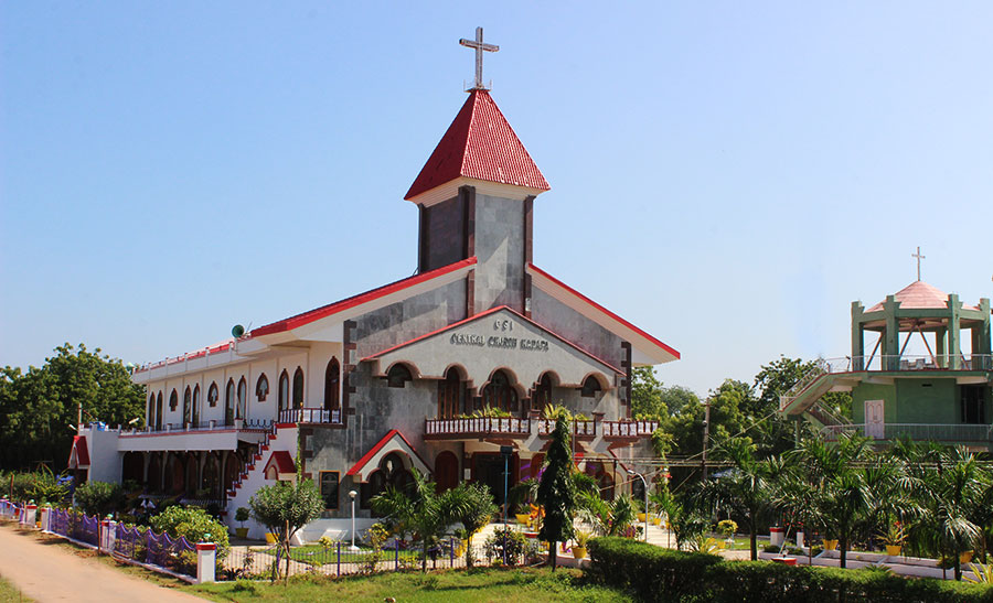 Front View of the Church